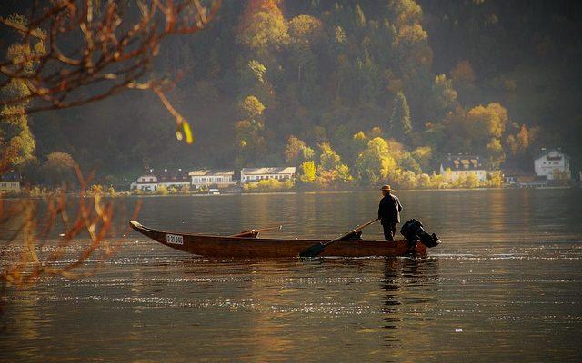 pêcheur en vacances